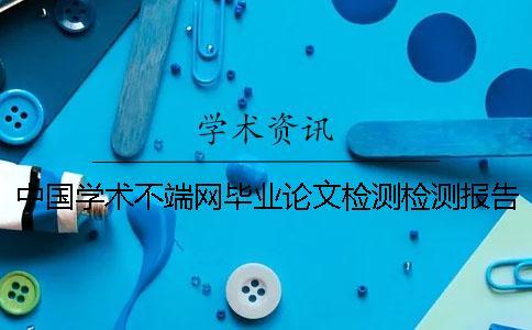 中国学术不端网毕业论文检测检测报告一共有几份?
